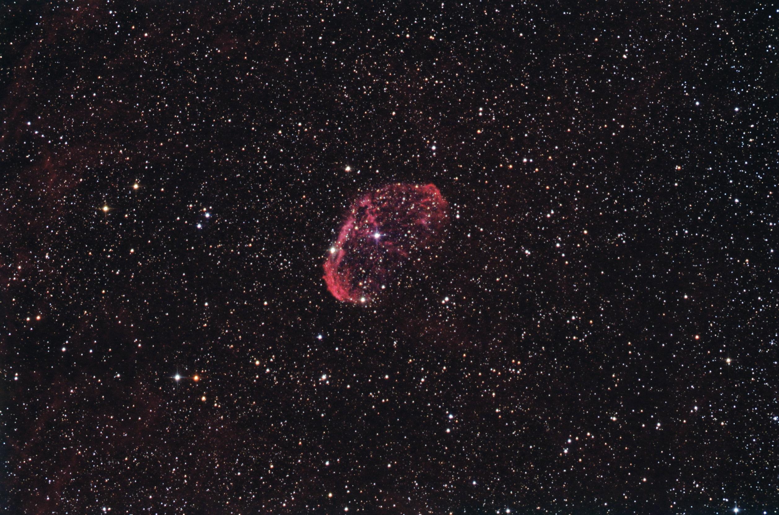 NGC6888-Nebuleuse du croissant-30min-DPP-DSS-PS2+FFC-Ha13x10mn-RVB10x3mn