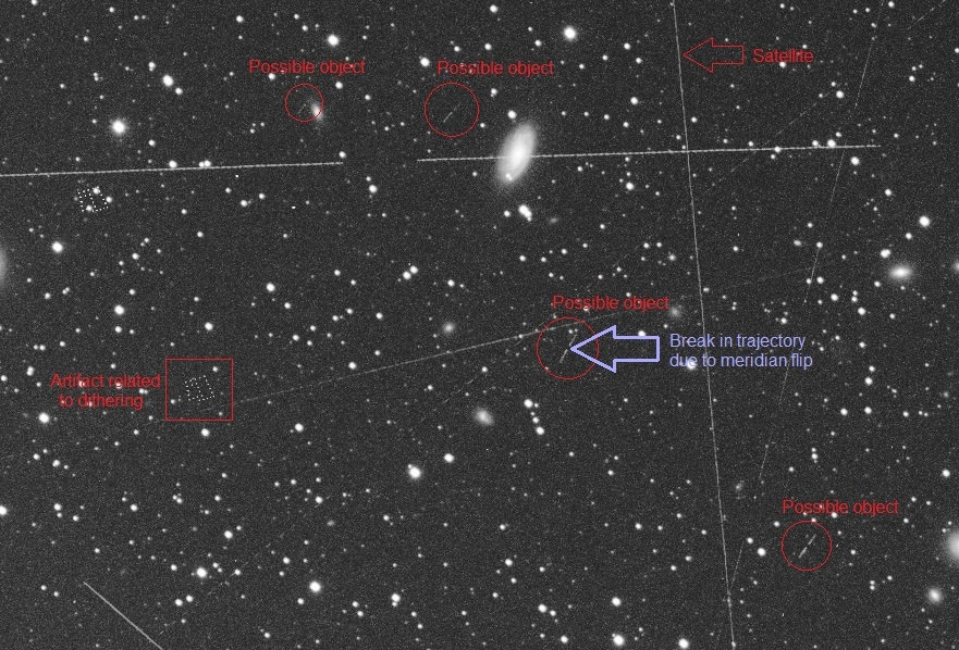 Asteroids In Virgo - 20190228 - Samyang135 - QHY163m - 3