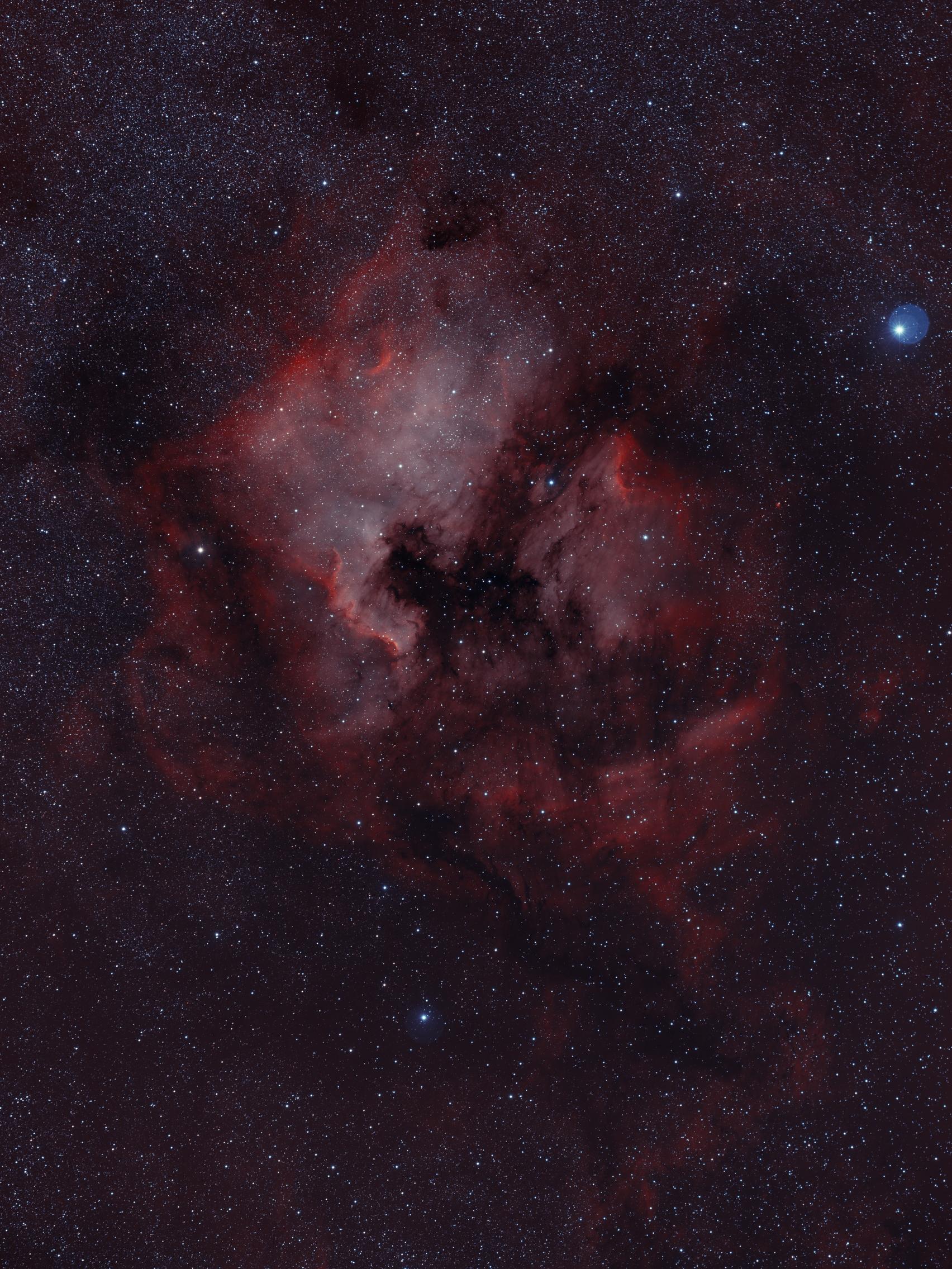 NGC7000 - HOO - 11h50 - ciel-de-nuit-en-vercors.fr